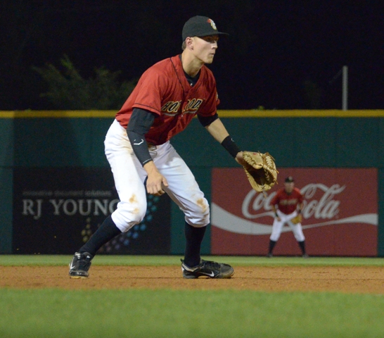 Tyler Goeddel manned third base for the Hot Rods in 2012 and is currently participating in the Rays Winter Development Program. (Donna Wilson)